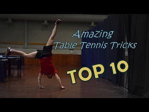 Amazing table tennis trick shots that guarantee entertainment