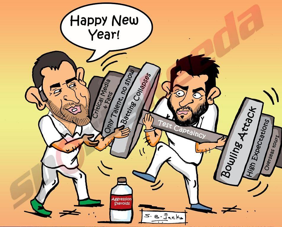 Comic: MS Dhoni's New Year gift to Virat Kohli
