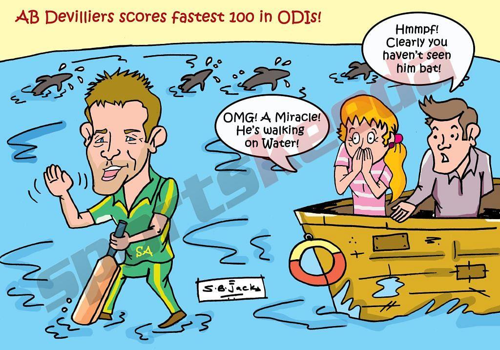 Comic: AB de Villiers - The miracle man