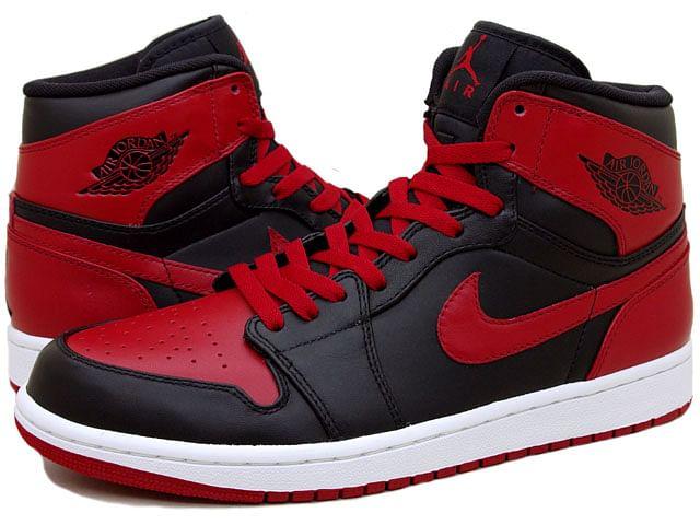 nike air jordans red and black