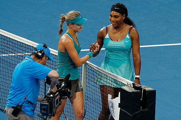 Genie Bouchard makes a snarky remark after beating Serena Williams
