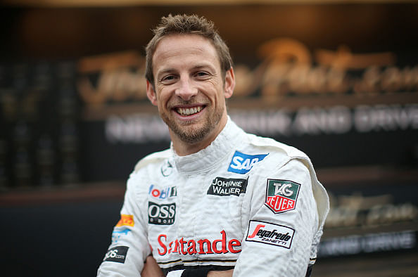 F1 driver Jenson Button ties the knot
