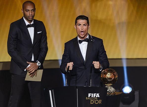 Twitter reaction to Cristiano Ronaldo's weird scream during his Ballon d'Or acceptance speech