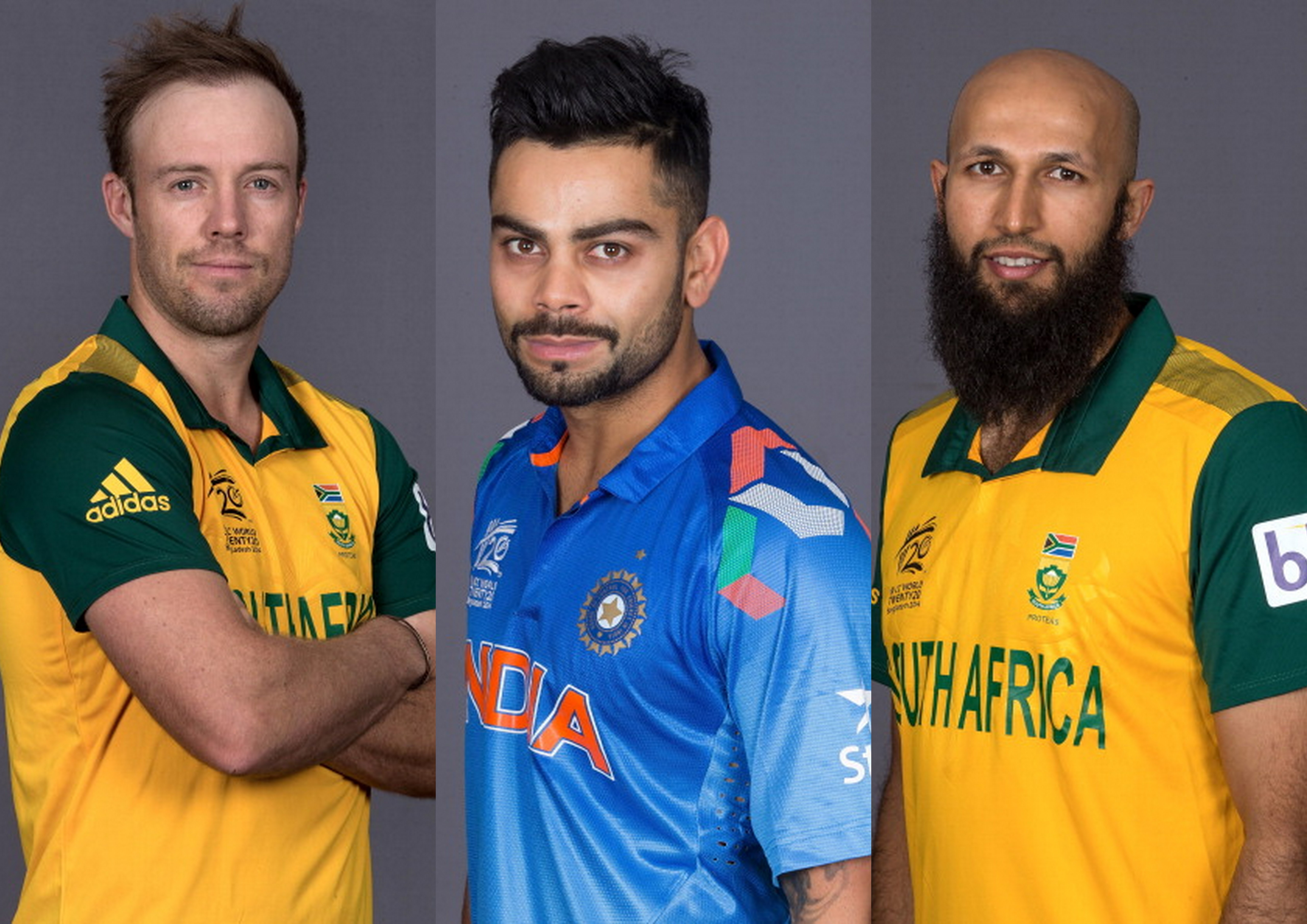 Statistical comparison of Virat Kohli, Hashim Amla and AB de Villiers in ODIs