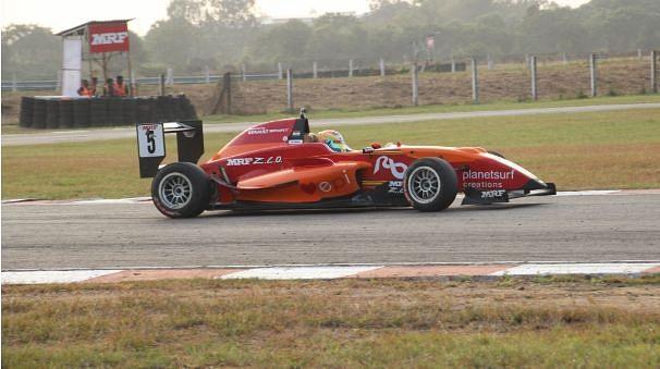 Raj Bharath finishes third overall in MRF Challenge 2015
