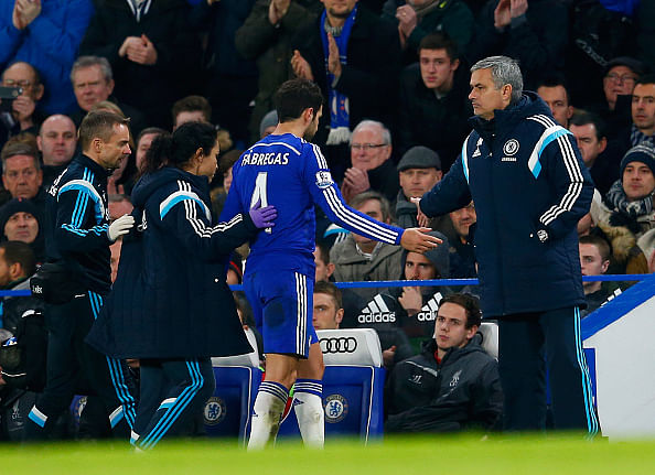 Chelsea's Fabregas doubtful for Manchester City tie with hamstring injury