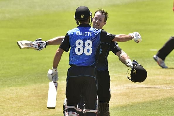 Luke Ronchi and Grant Elliott break ODI record for 6th-wicket partnership