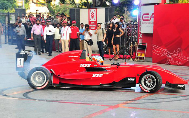 German Sebastian Balthasar takes pole position at the MRF Challenge series in Chennai
