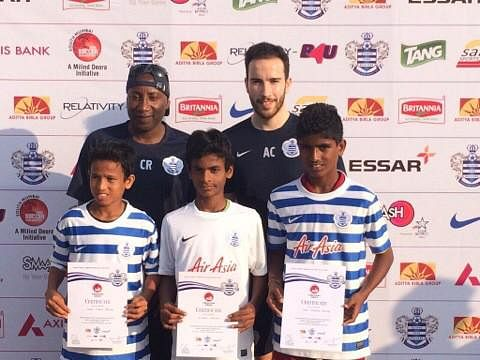 QPR coaches pick three Mumbai kids for football clinic in London