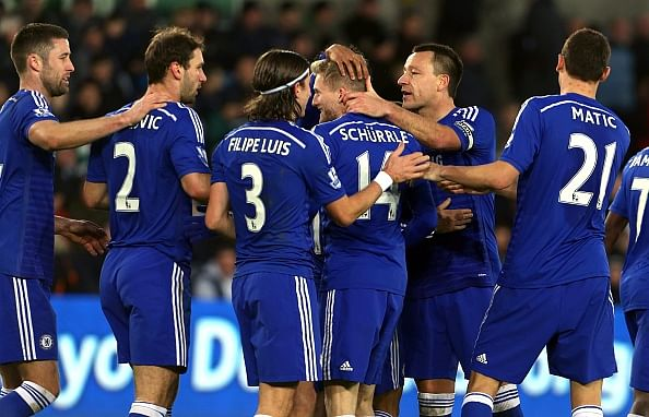 Chelsea extend lead at the top with 5-0 win away at Swansea