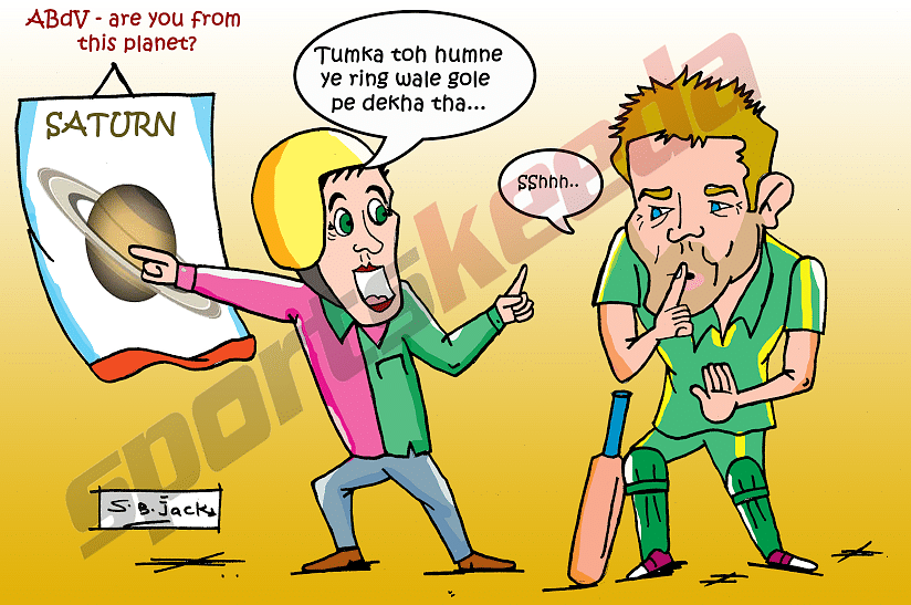 Comic: AB de Villiers - which planet are you from?