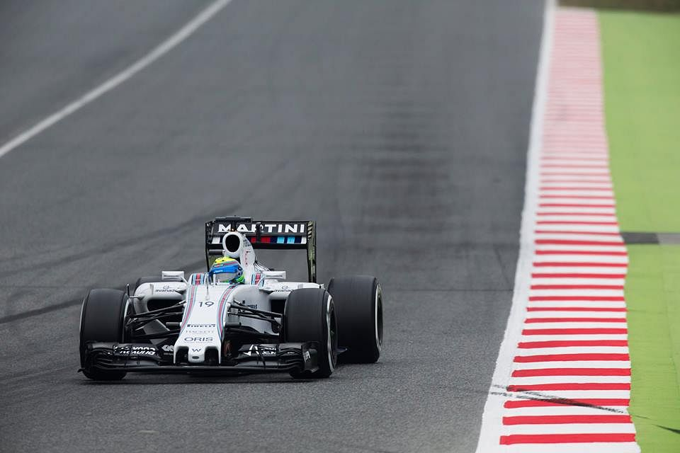Second Barcelona test: Massa leads the way as Mercedes run into trouble