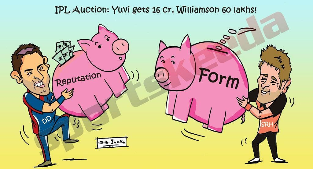 Comic: Reputation v Form - The two faces of IPL 8 Auctions
