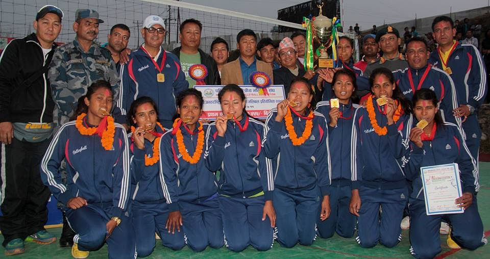 APF win Women's Volleyball tournament in Nepal