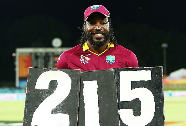 ICC World Cup 2015, West Indies vs Zimbabwe: List of world records broken by Chris Gayle