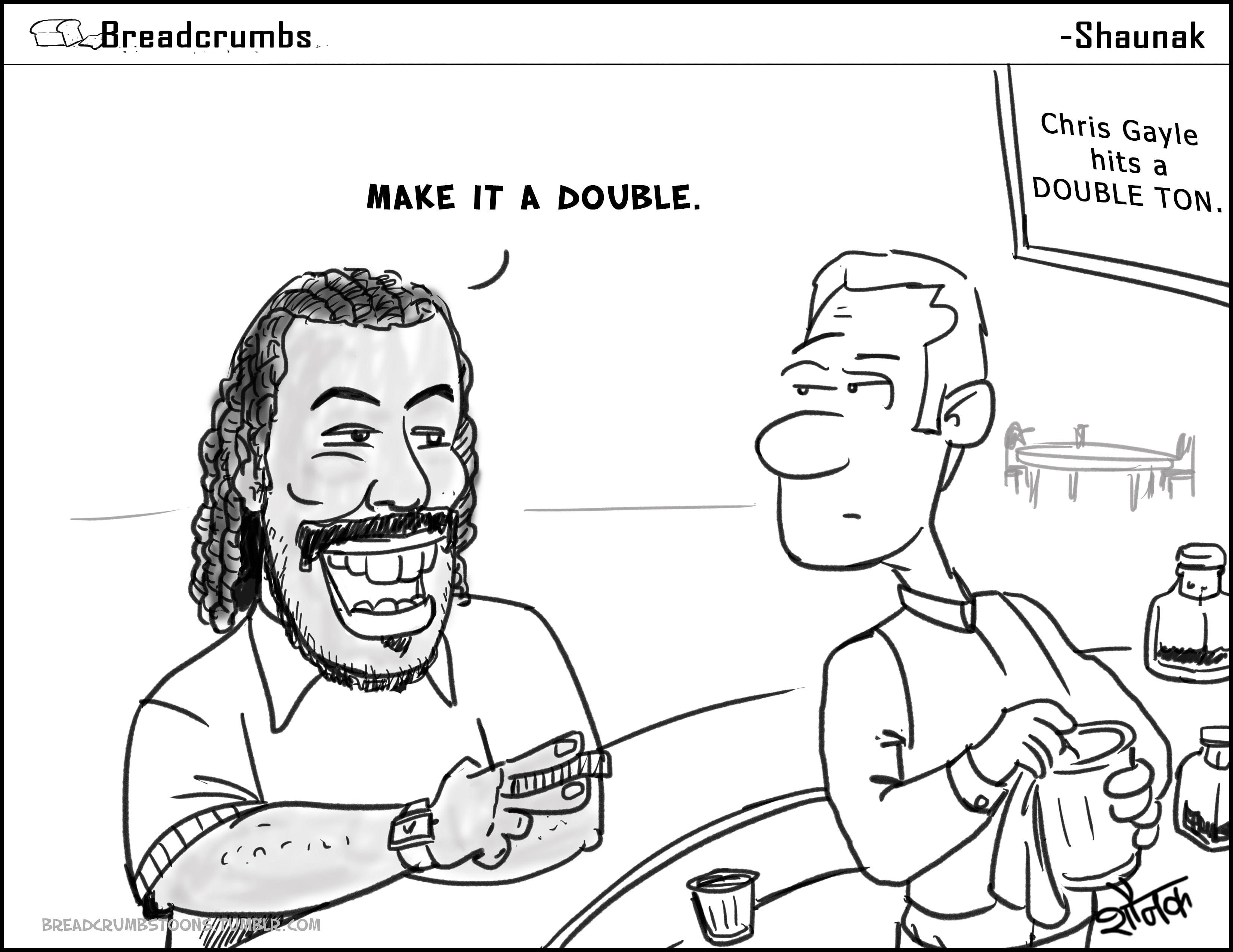 Comic: Double or nothing - Chris Gayle