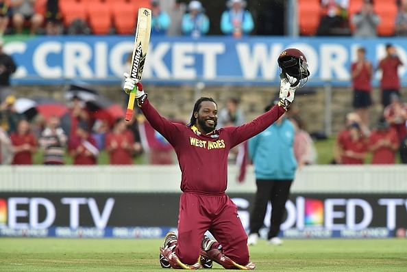 Chris Gayle becomes 1st man to score double century in World Cup history