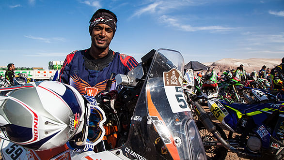 C S Santosh ahead by 24 minutes in Desert Storm