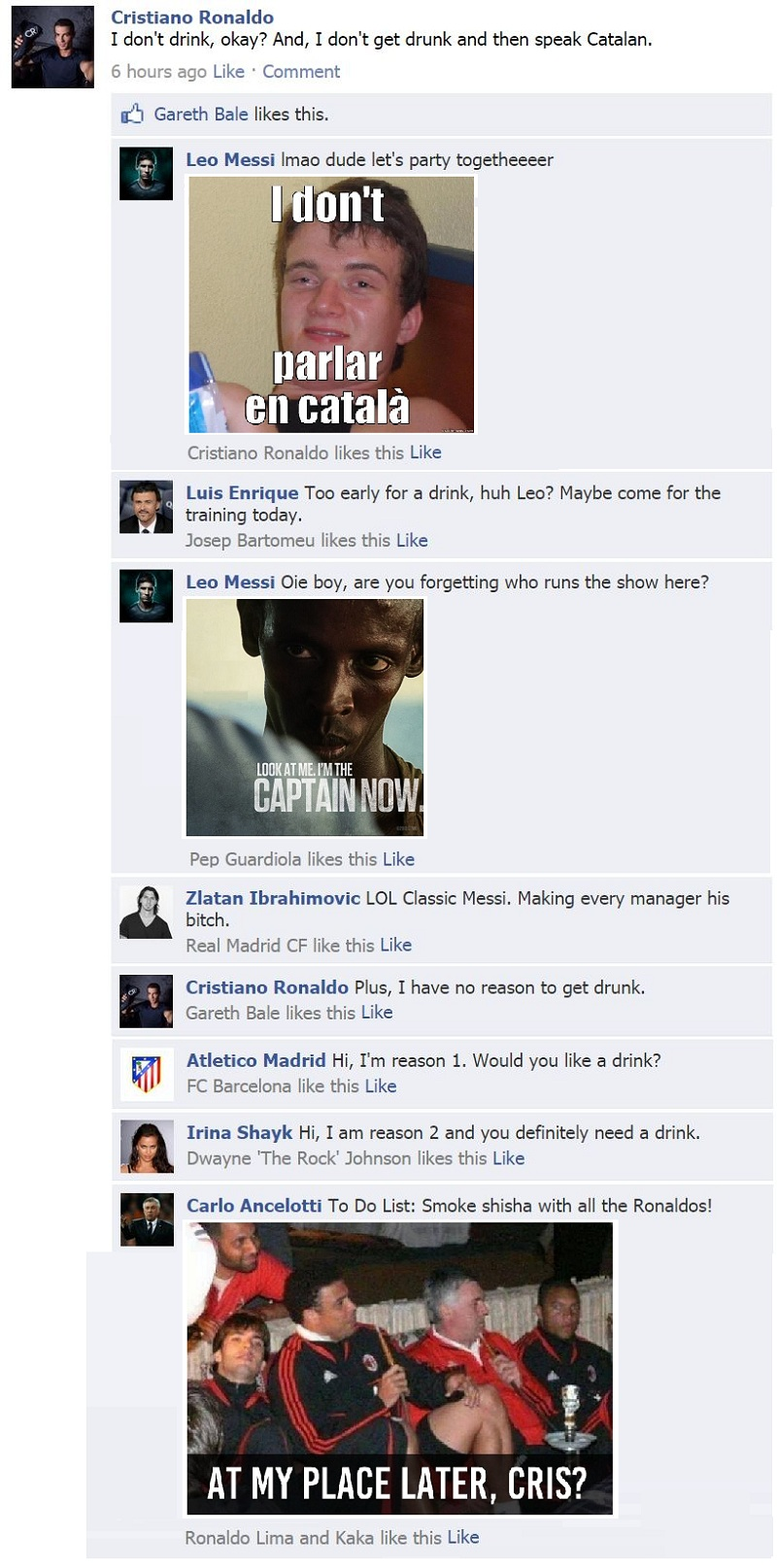 FB Wall: Cristiano Ronaldo has two reasons to drink, but should he?