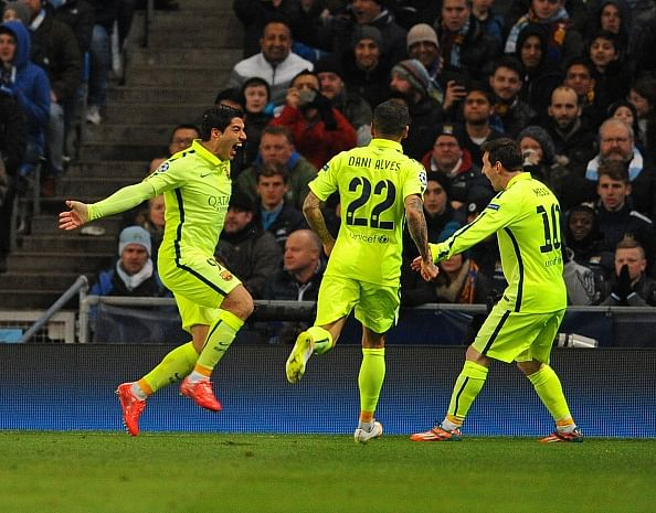 Highlights: Luis Suarez scores twice for Barcelona to claim 2-1 away win over Manchester City
