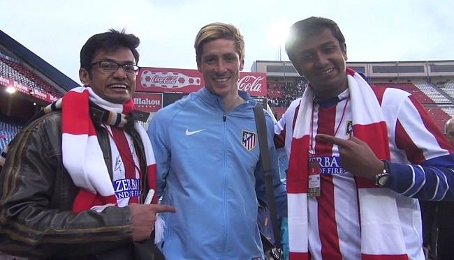 Video: Indian Atletico Madrid fan's dream comes true, watches Madrid derby live and meets Torres
