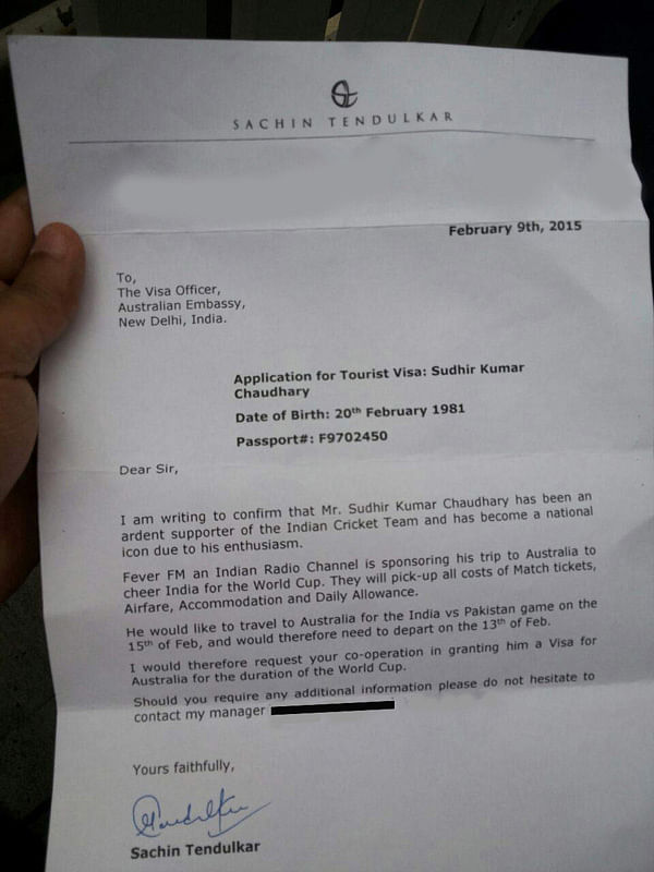 Sachin Tendulkar Helps Fan Sudhir Kumar Chaudhury Get Visa