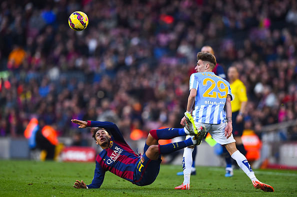 Video  Neymar escaped sending off for a horrible tackle during Barca s    Neymar Home Address