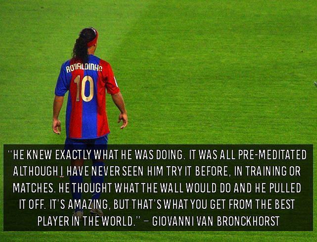 Top 10 Quotes on Ronaldinho - Slide 1 of 10