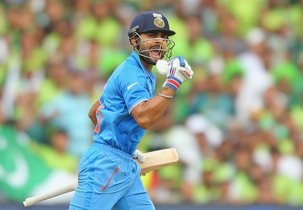 ICC World Cup 2015: Virat Kohli ton guides India to 300/7 against Pakistan