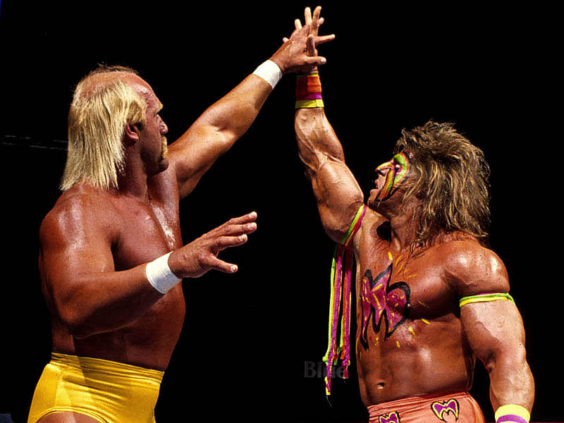 Image Gallery hulk hogan ultimate warrior