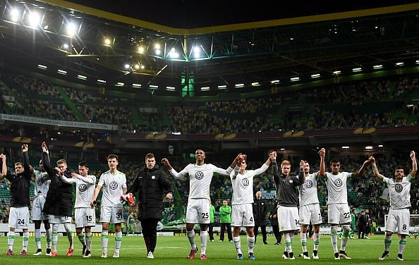 Visiting Wolfsburg eliminates Sporting from Europa League