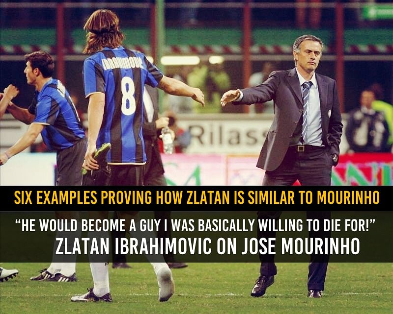 Six examples that show how Jose Mourinho and Zlatan Ibrahimovic are very much alike