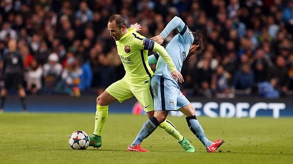 Barcelona's Andres Iniesta wants Manchester City 'to suffer' at Camp Nou