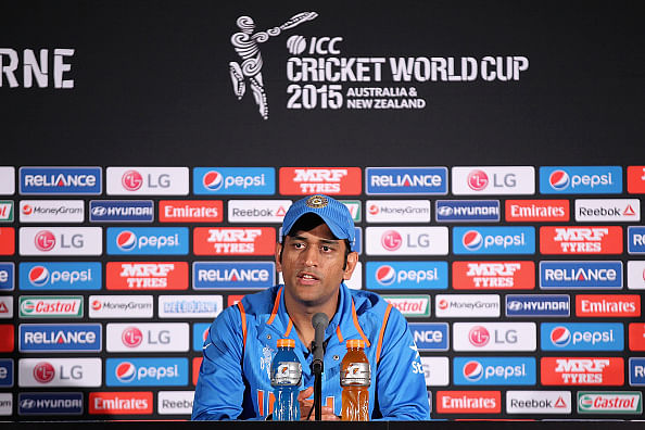 Dhoni's World Cup-winning bat on display