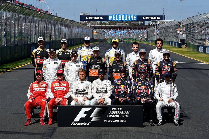 Top four drivers from the Australian Grand Prix