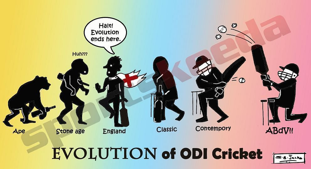 Comic: Evolution of ODI cricket