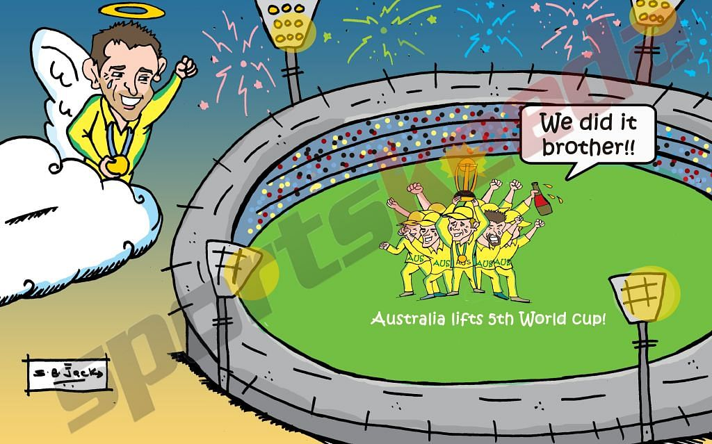 Comic: Australia lift World Cup for the 5th time