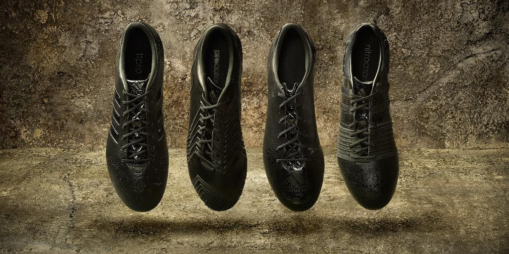 Adidas Black Football Shoes