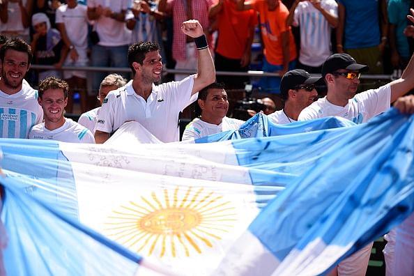 Argentina beat Brazil 3-2 in Davis Cup