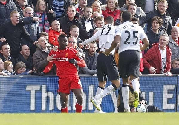 Video: Mario Balotelli held back by Liverpool fans in Chris Smalling bust up