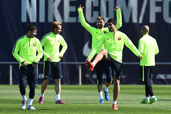 Barcelona take on Manchester City in Champions League