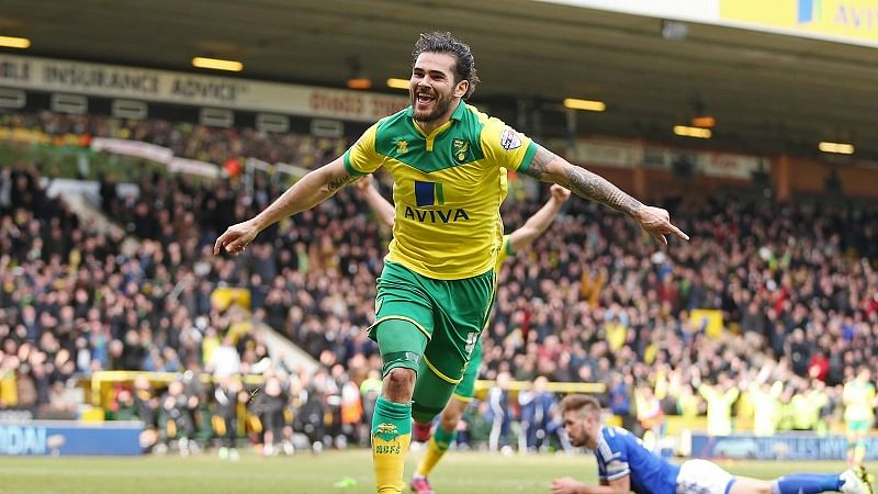 Video: Norwich's Bradley Johnson's 'yellow lightning' almost takes off the roof of the net