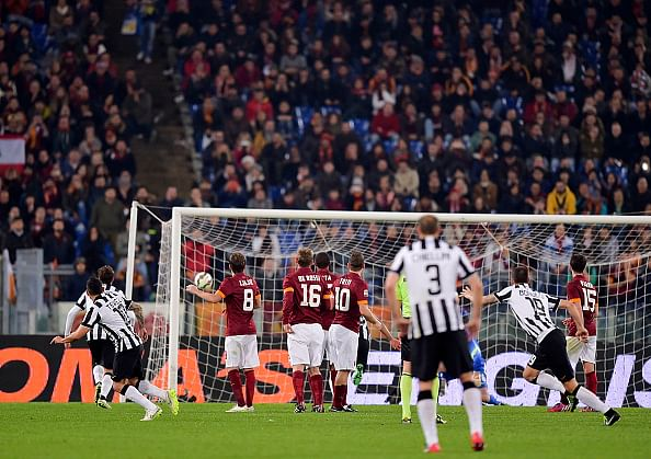 Video: No Pirlo? No problem! Carlos Tevez scores from a great free-kick against Roma