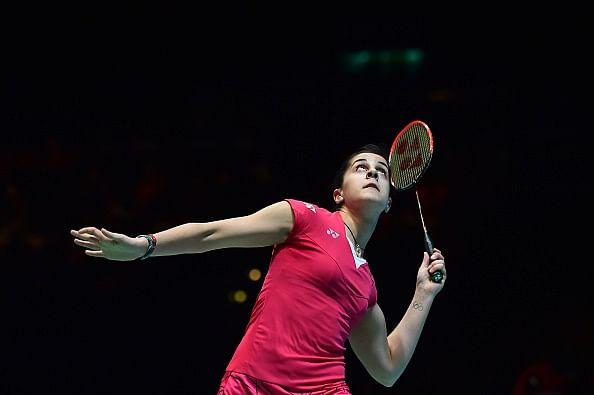 Carolina Marin beats Saina Nehwal in the final of All England Championships