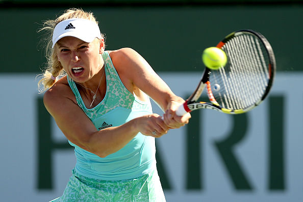 Belinda Bencic upsets Caroline Wozniacki at the BNP Paribas Open