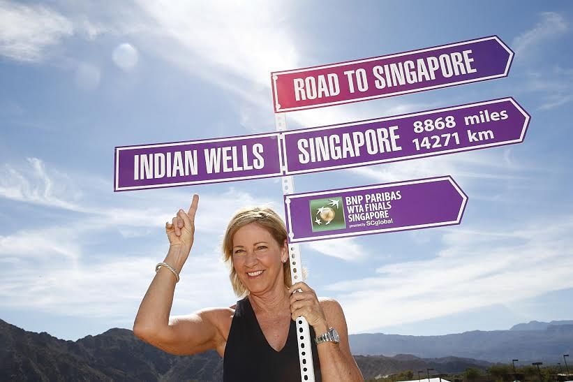 Chris Evert returns to Singapore as official ambassador for the BNP Paribas WTA Finals Singapore