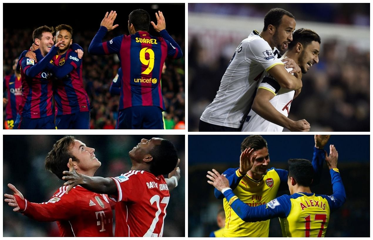 Top 10 goals from the European mid-week