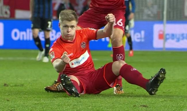 Video: Why did FC Kaiserslautern's Jean Zimmer celebrate a goal F1 style?