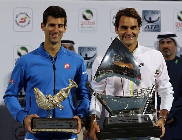 Roger Federer beats Novak Djokovic 6-3, 7-5 to lift the Dubai Championships title