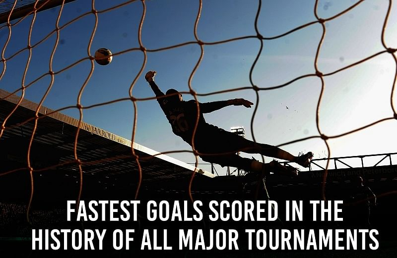 Fastest goals scored in the history of all major tournaments